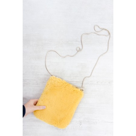 RINO AND PELLE Doxy Cross Body Faux Fur Bag - Yellow