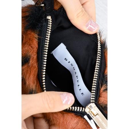 RINO AND PELLE Doxy Cross Body Faux Fur Bag - Beige