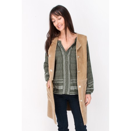 RINO AND PELLE Crissy Lammy Waistcoat - Brown