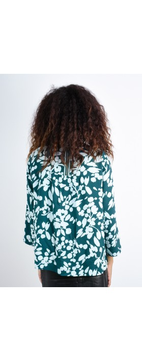 Sandwich Clothing Bold Floral Top Emerald