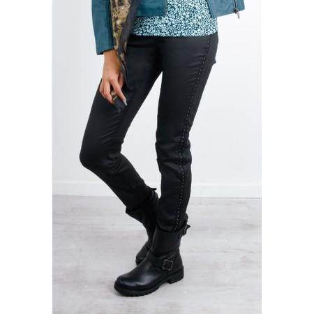 Sandwich Clothing Slim Fit Stud Detail Trousers - Black