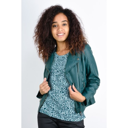 Sandwich Clothing Faux Leather Biker Jacket - Green