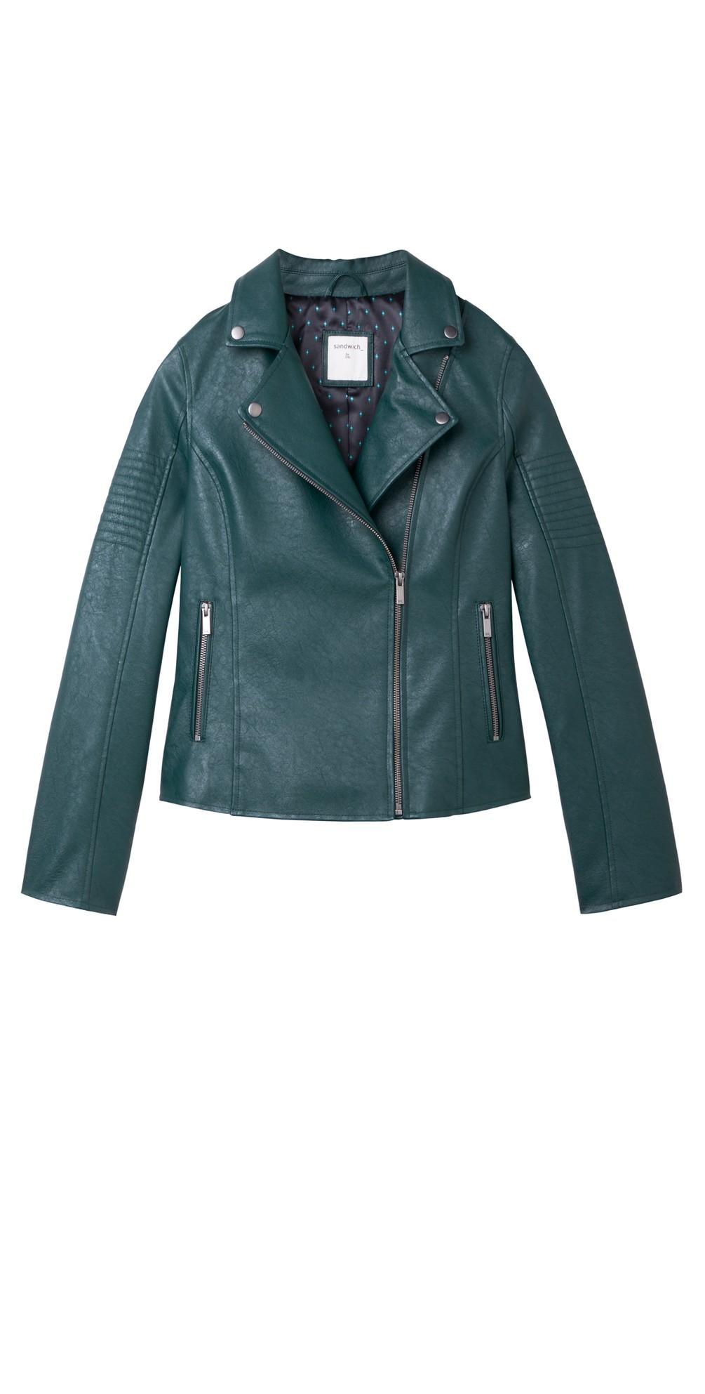 Faux Leather Biker Jacket main image