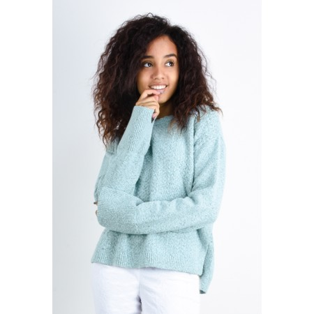 Sandwich Clothing Herringbone Knit Jumper - Blue