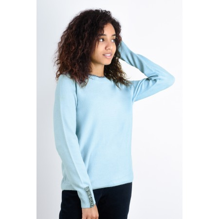 Sandwich Clothing Round Neck Detail Jumper - Blue
