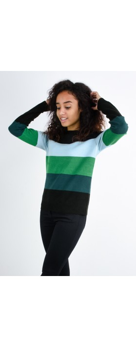 Sandwich Clothing Stripe Print Jumper Black