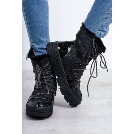 Tamaris  Franny Lace Front Nordic Boot - Black