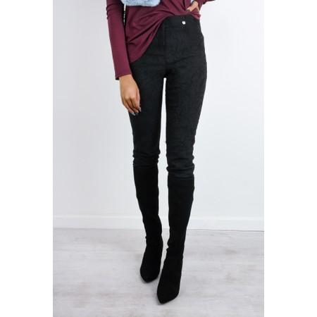 Robell  Rose 09 Jacquard Slimfit 7/8 Trouser - Black