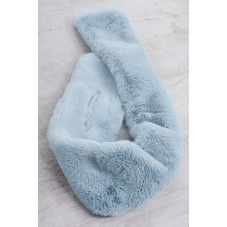 Gemini Label  Nadia Supersoft Faux Fur Scarf - Blue