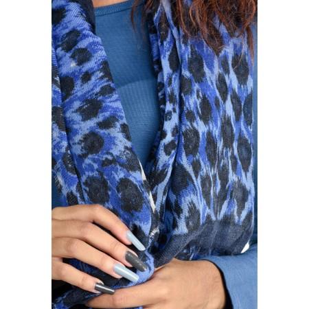BeckSondergaard Coyle Leopard Print Scarf - Blue