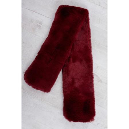 Gemini Label  Nadia Supersoft Faux Fur Scarf - Red