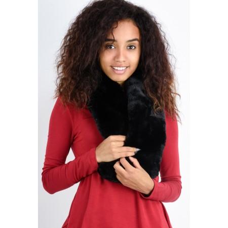 Gemini Label  Nadia Supersoft Faux Fur Scarf - Black