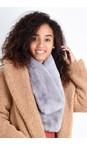 Gemini Label Accessories Grey Nadia Supersoft Faux Fur Scarf