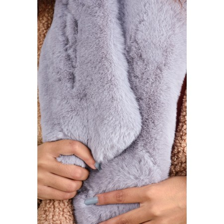 Gemini Label Accessories Nadia Supersoft Faux Fur Scarf - Blue