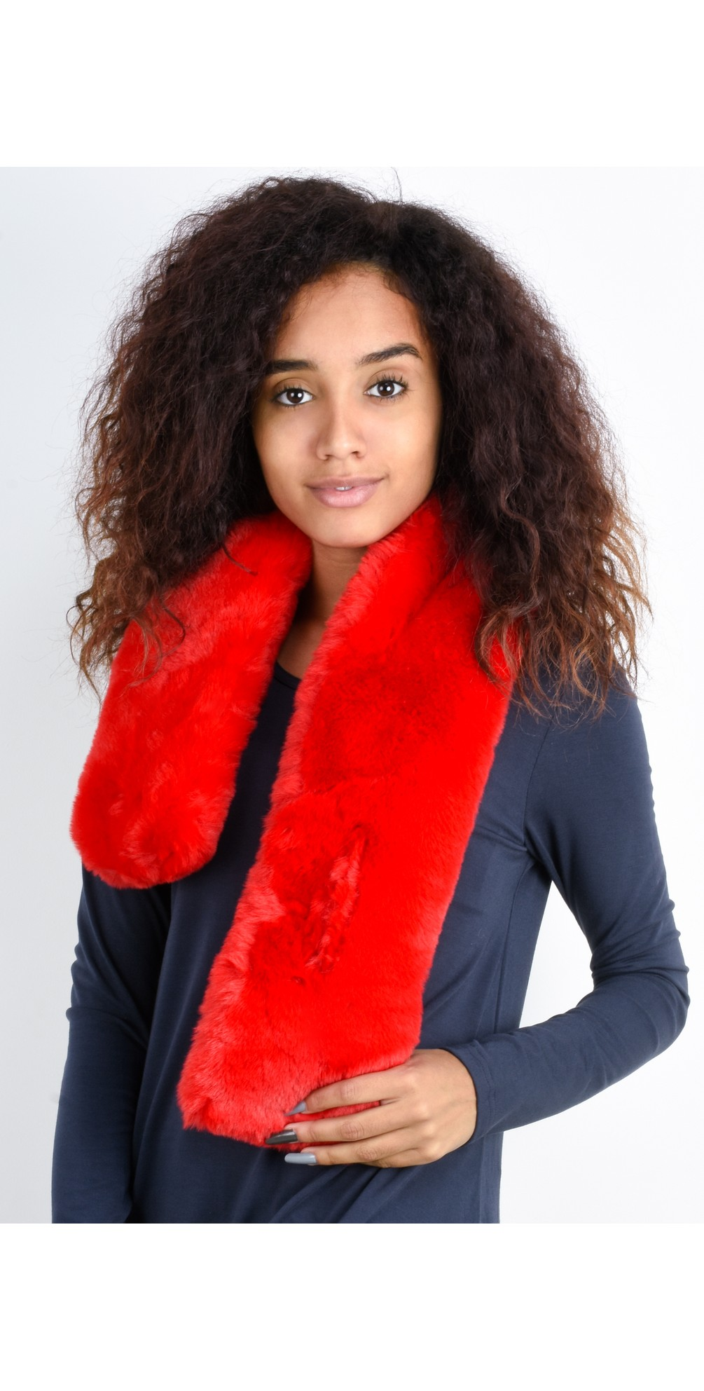 Nadia Supersoft Faux Fur Scarf main image