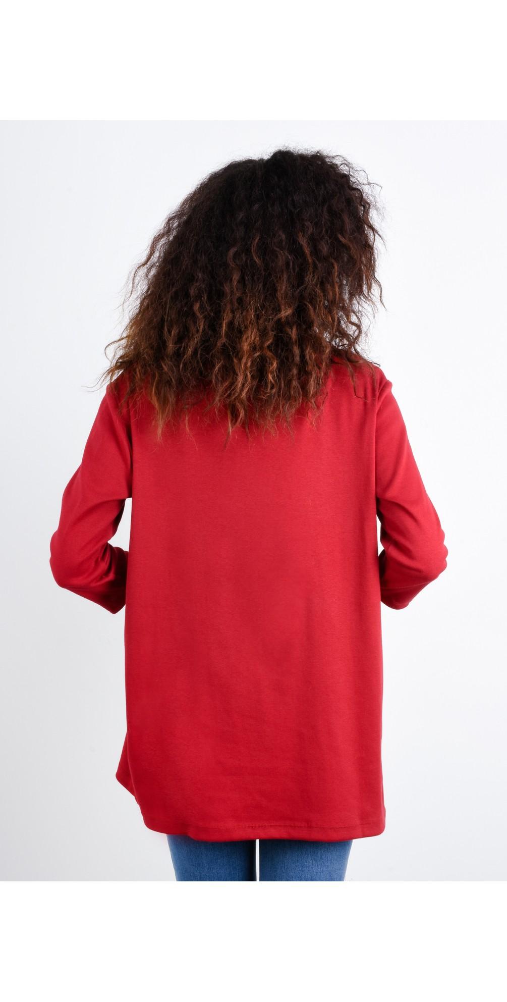 Clara Easyfit Organic Cotton Roll Neck Top main image