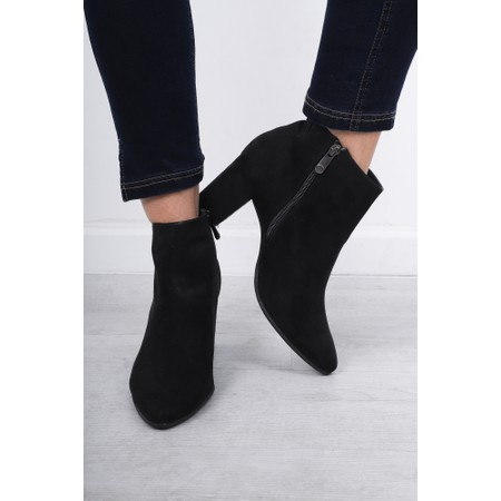 Marco Tozzi Lode Block Heel Ankle Boot - Black