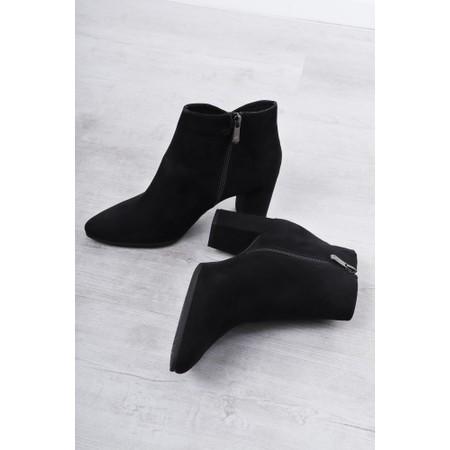Marco Tozzi Lode Block Heel Ankle Boot - Black