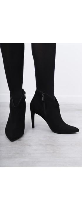 Marco Tozzi Metato High Heel Ankle Boot Black