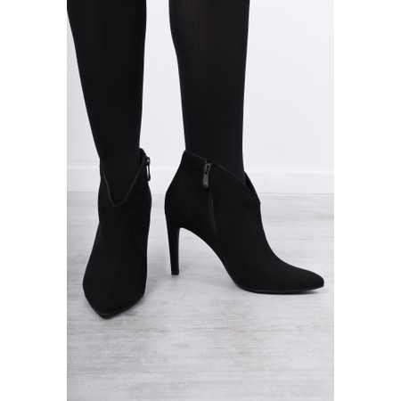 Marco Tozzi Metato High Heel Ankle Boot - Black