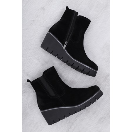 Marco Tozzi Cugy Wedge Ankle Boot  - Black