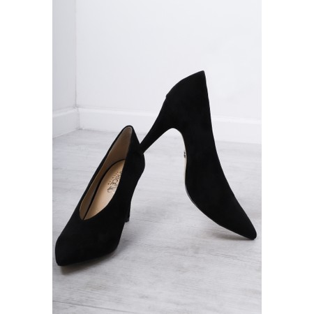 Caprice Footwear Effie Suede Court Shoe  - Black