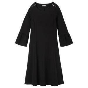 Sandwich Clothing Fluted Sleeve Little Black Dress