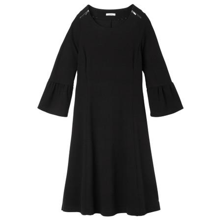 Sandwich Clothing Fluted Sleeve Little Black Dress  - Black