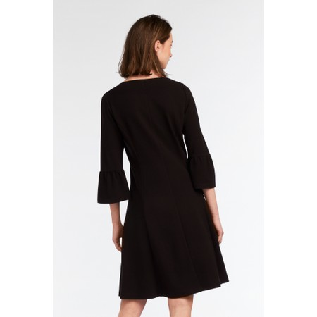 Sandwich Clothing Fluted Sleeve Little Black Dress  - Black