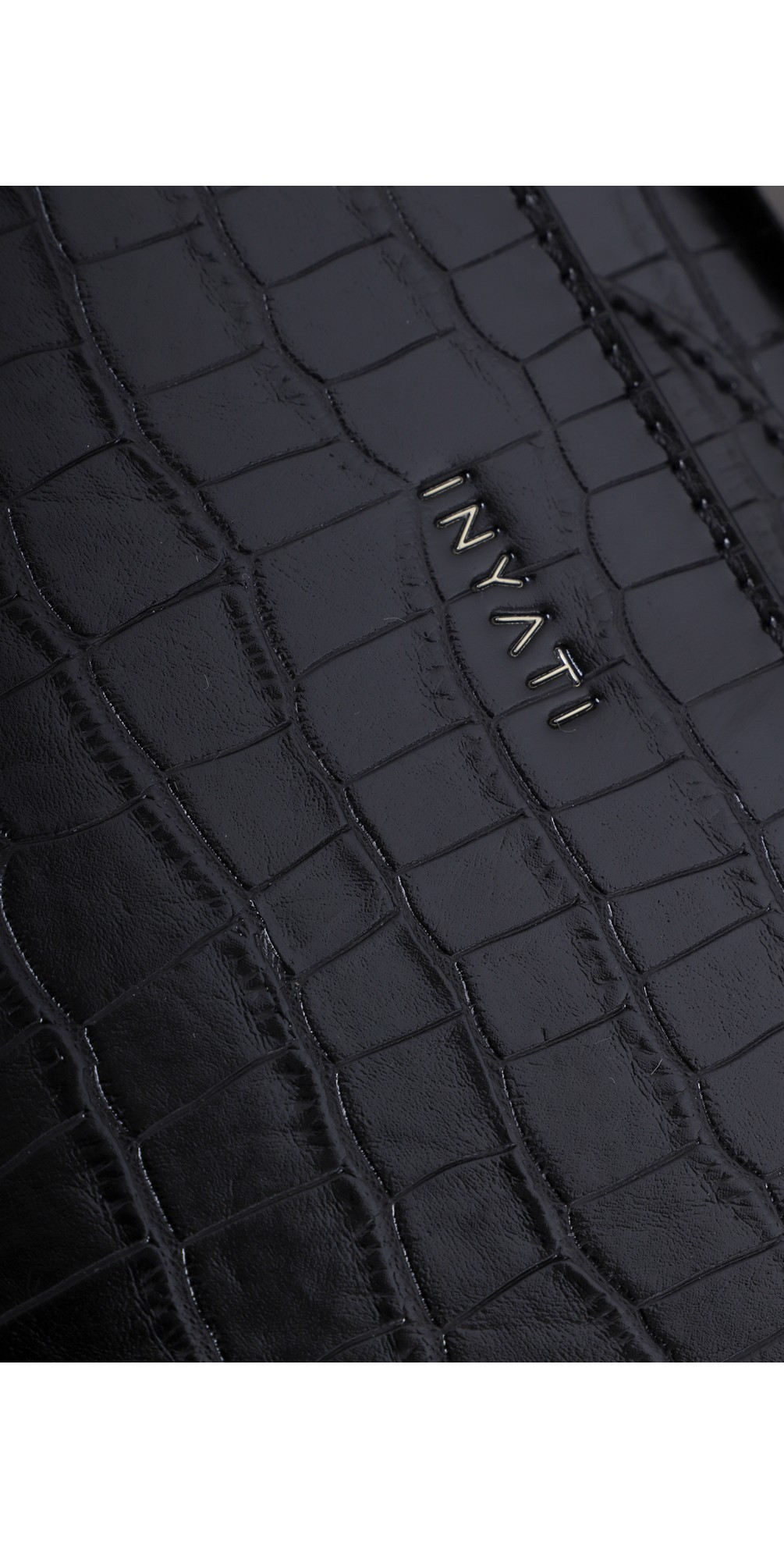 Olivia Croco Top Handle Bag main image
