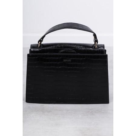 Inyati Olivia Croco Top Handle Bag - Black