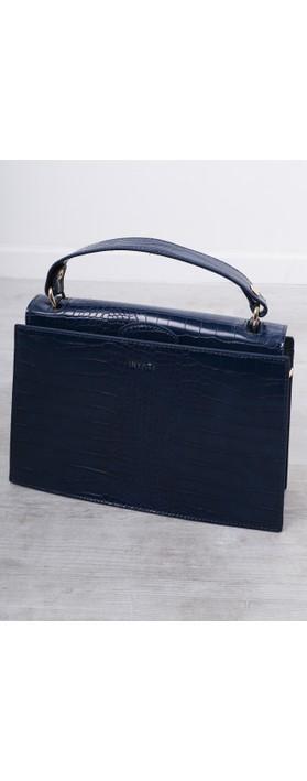 Inyati Olivia Croco Top Handle Bag Navy Croco
