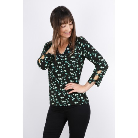 Sandwich Clothing Abstract Print Jersey Top - Black