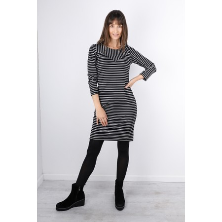 Sandwich Clothing Striped Print Jersey Dress  - Black