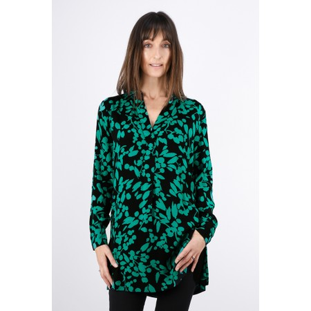 Sandwich Clothing Bold Floral Print Tunic - Green