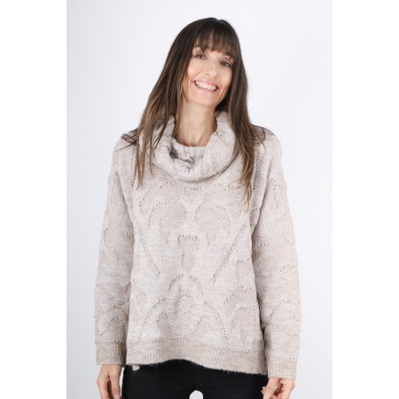 Lauren Vidal Nola Roll Neck Jumper - Beige