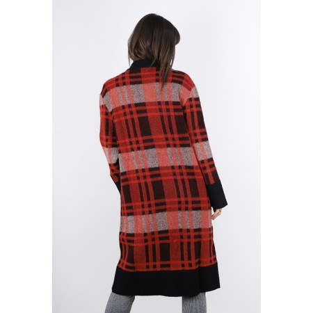 Lauren Vidal Fly Check Print Cardigan - Red