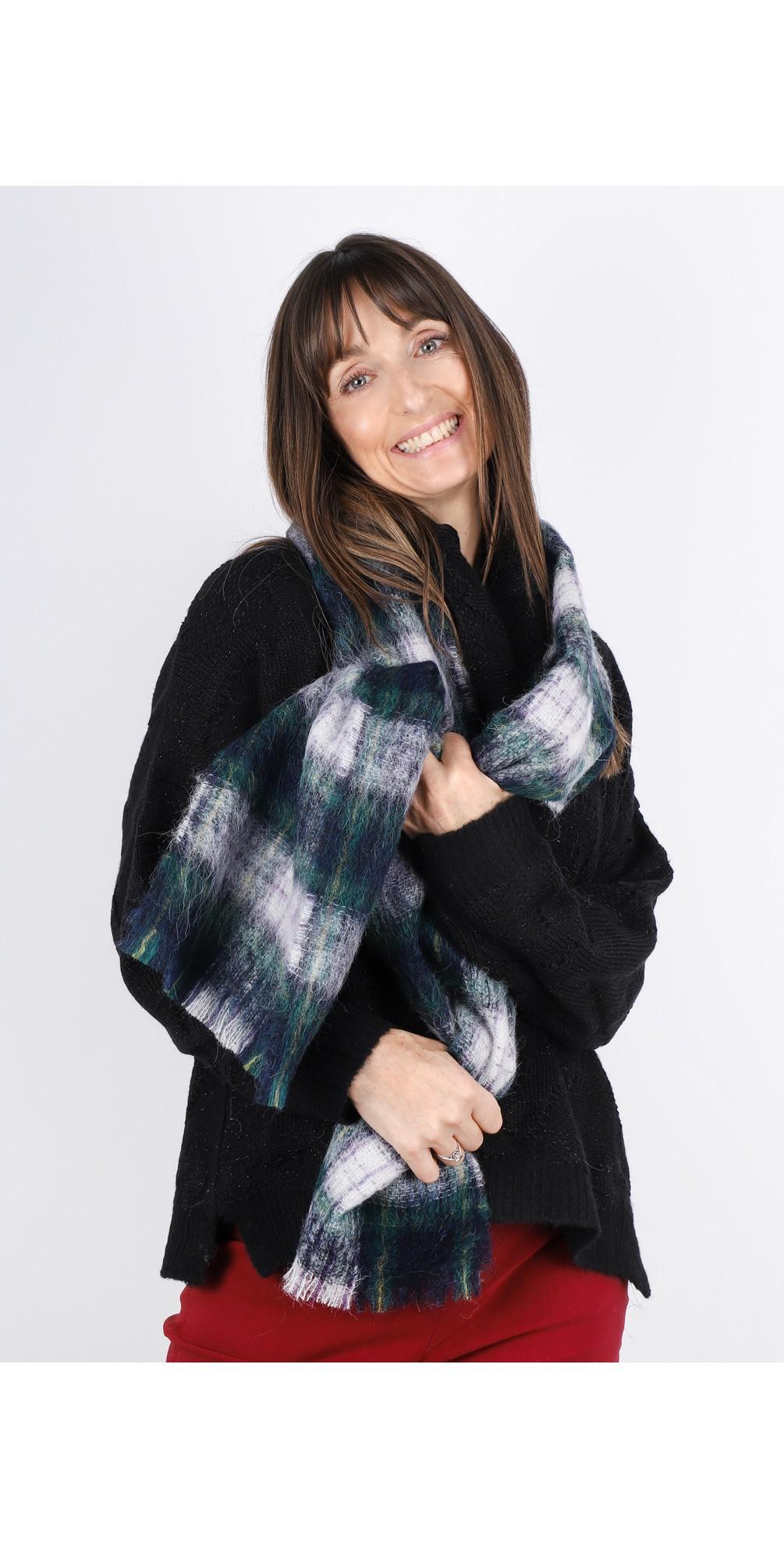 Ingva Check Wool Scarf main image