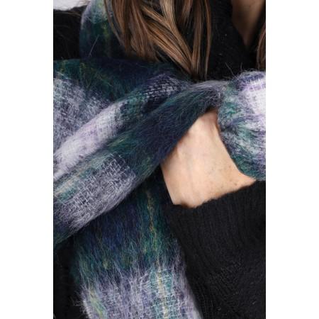 BeckSondergaard Ingva Check Wool Scarf - Green