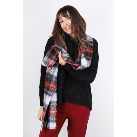 BeckSondergaard Ingva Check Wool Scarf - Red