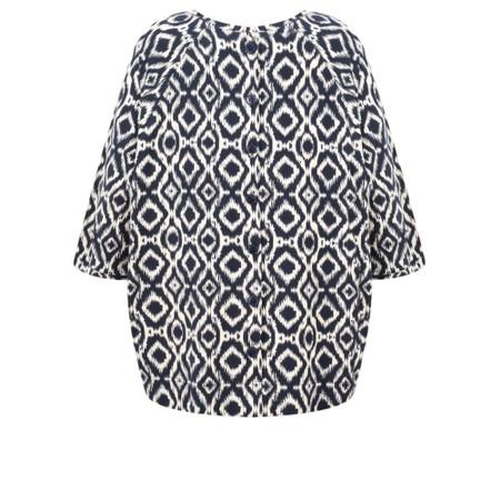 Masai Clothing Bonnie Abstract Print Top - Blue