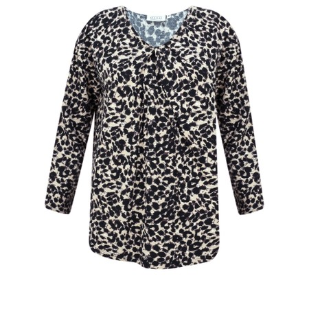 Masai Clothing Billie Leopard Print Twist Detail Top - Brown