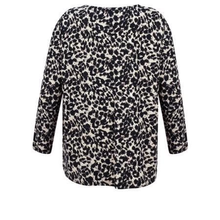 Masai Clothing Billie Leopard Print Twist Detail Top - Brown