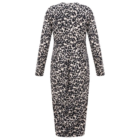 Masai Clothing Neba Leopard Print Dress - Brown