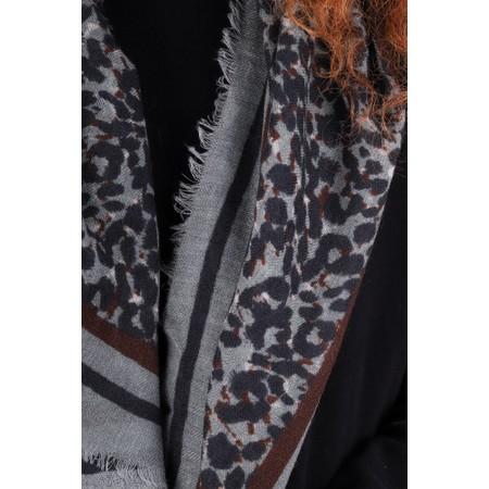 Masai Clothing Abbie Leopard Print Square Scarf - Blue
