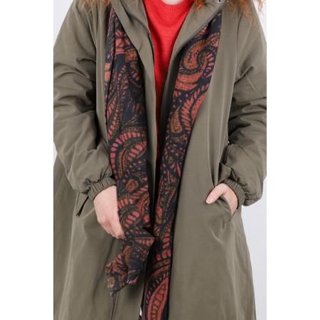 Masai Clothing Aurora Paisley Wool Scarf - Red
