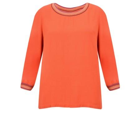 Sandwich Clothing Block Colour Stripe Trim Blouse - Red