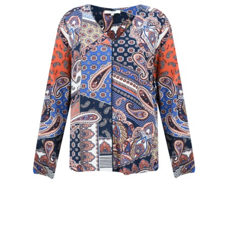 Sandwich Clothing Bold Paisley Print Blouse - Red