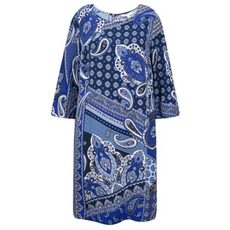 Sandwich Clothing Paisley Collage Print Dress - Blue