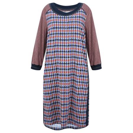 Sandwich Clothing Check Print Dress - Blue